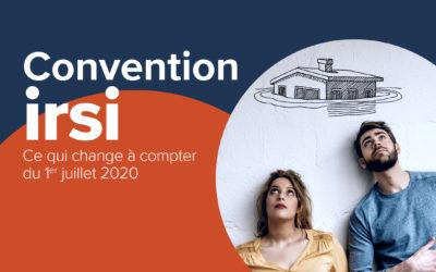 Convention IRSI : Évolutionau 1er juillet 2020